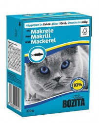 Bozita Feline Jelly Mackerel консервы для кошек кусочки в желе со скумбрией 370 гр