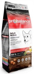 Probalance Dog Immuno Adult Active корм для собак с высокой активностью, 15 кг