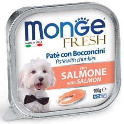 Monge Fresh Line Dog Pate and chunkies with salmon консервы для собак лосось